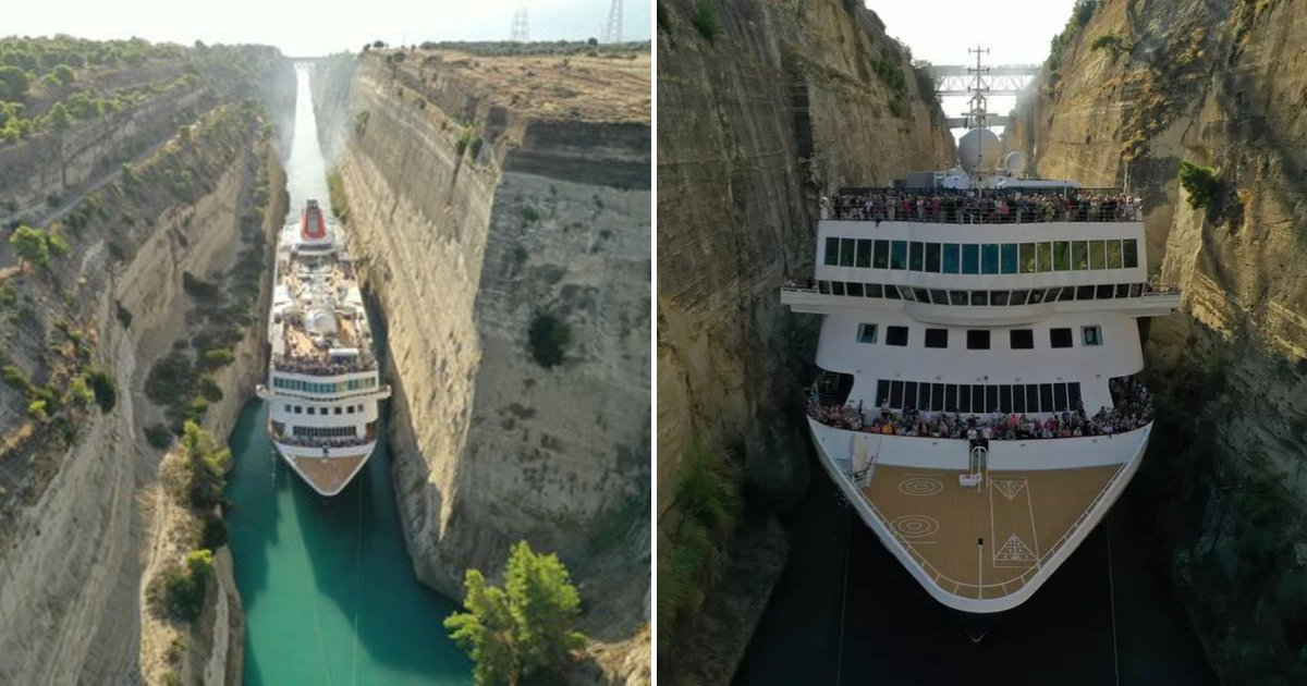 untitled design 38.png?resize=1200,630 - Giant Cruise Ship Caught On Camera Passing Through A Narrow Canal