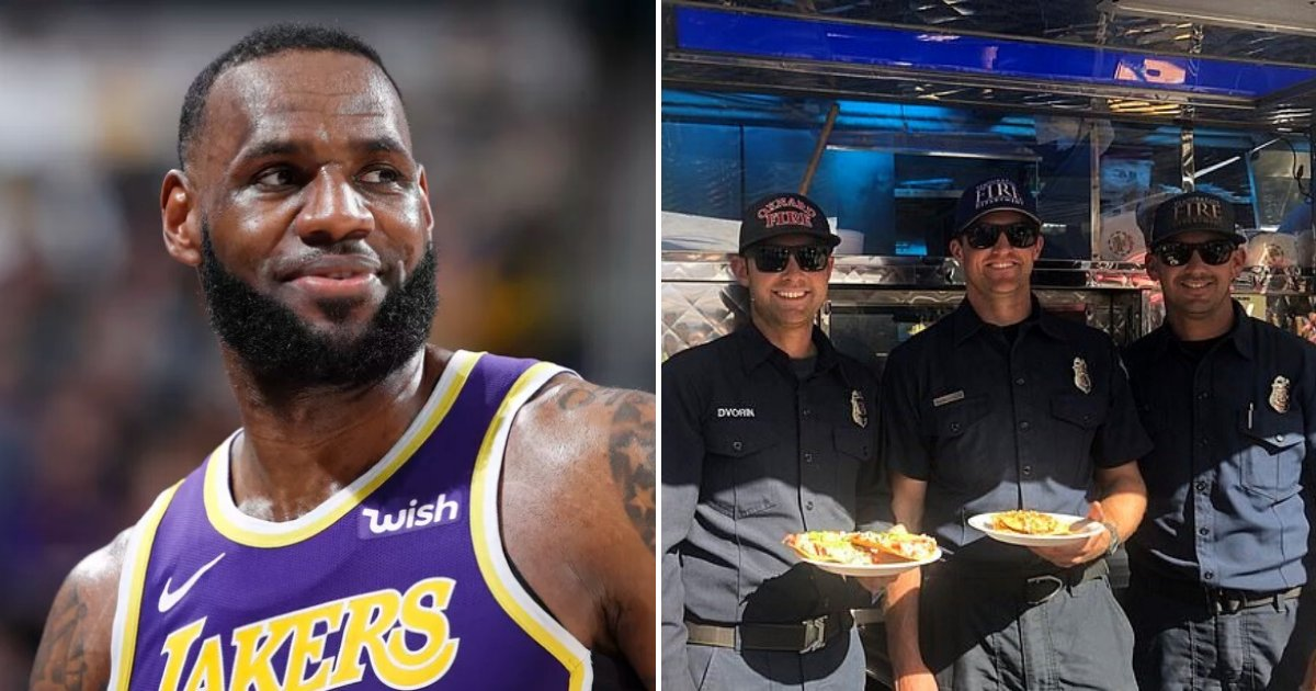 untitled design 40 1.png?resize=412,232 - LeBron James Hired A Taco Truck To Feed Hungry Firefighters Amid California Wildfires