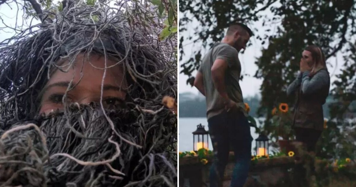 untitled design 57.png?resize=1200,630 - Woman Disguised As A Bush Secretly Recorded The Moment Boyfriend Proposed To Her Sister