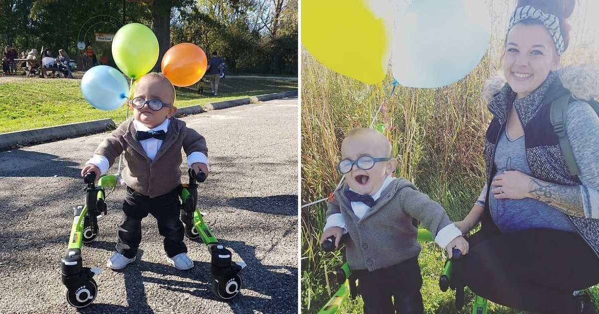untitled design 82 1.png?resize=412,232 - 2-Year-Old Boy With Cerebral Palsy Dressed As His Favorite Disney Character For Halloween