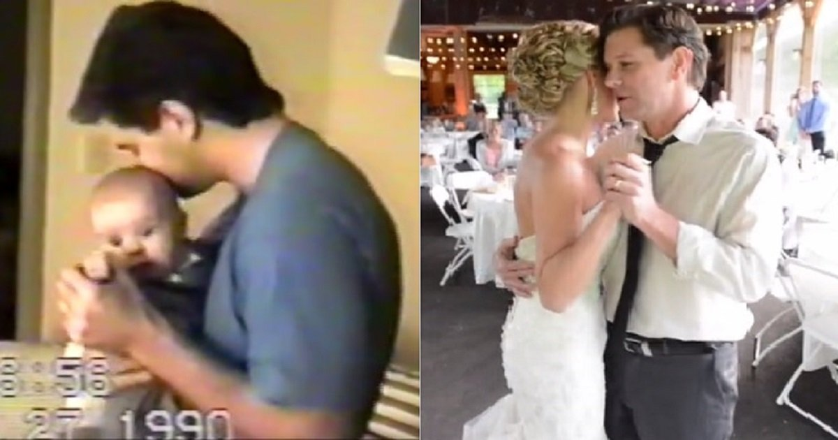 w3 1.jpg?resize=1200,630 - Father Filmed Himself Dancing With His Daughter Since She Was A Baby To Her Marriage