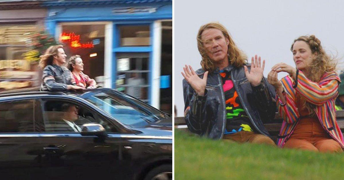 will ferrel rachel mcadams filming.jpg?resize=1200,630 - Will Ferrell And Rachel McAdams Spotted Filming In Edinburgh