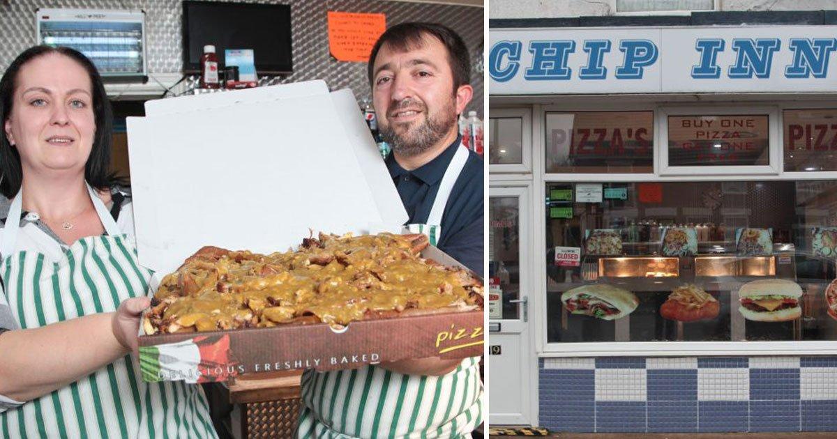 worlds biggest kebab chip inn.jpg?resize=412,232 - Takeaway Shop Serving The World's Biggest Kebab For £22