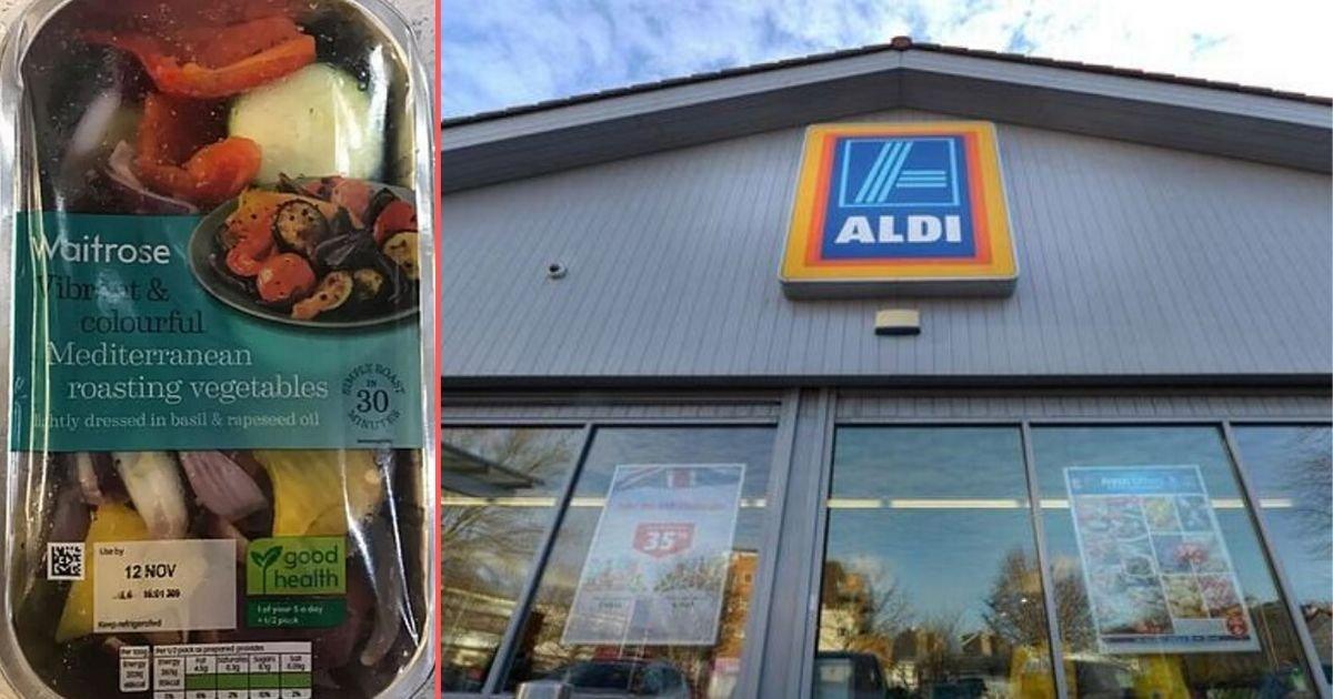 1 156.jpg?resize=412,275 - Couple Were Taken Aback to Find The Aldi Logo On Their Waitrose Roast Vegetables