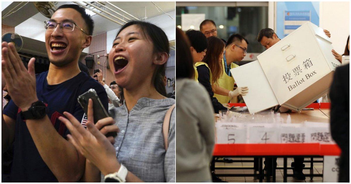 10 6.png?resize=1200,630 - '홍콩의 미래는?' 홍콩선거 범민주 압도적 승리...최초의 '과반' 점령