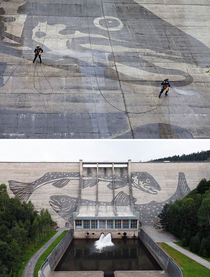 Powerwashed Dam In Eastern Germany