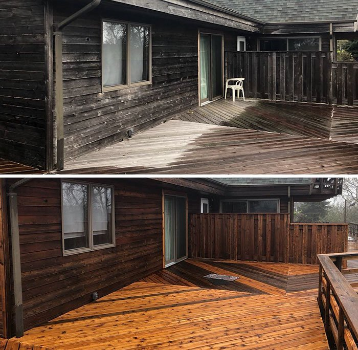 Did This Porch/House A While Ago Showing Before And After Used With No Bleach