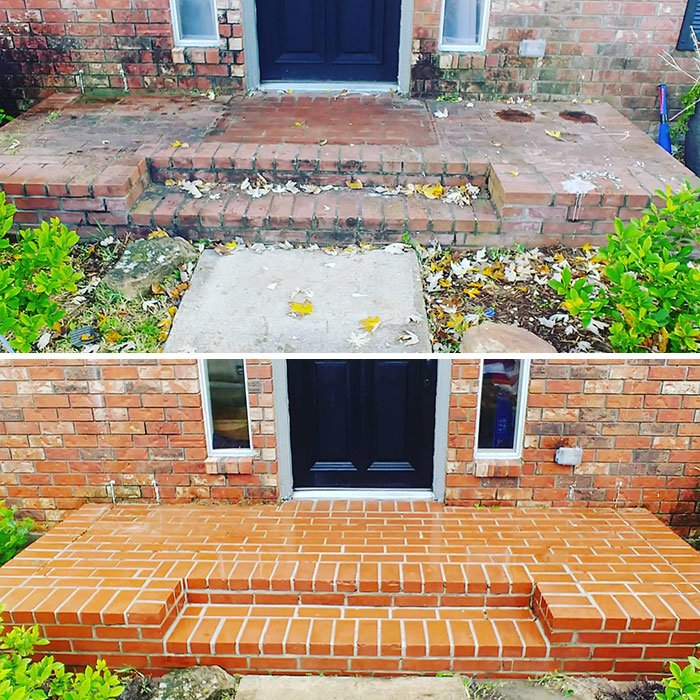 Brick Entryway Before And After