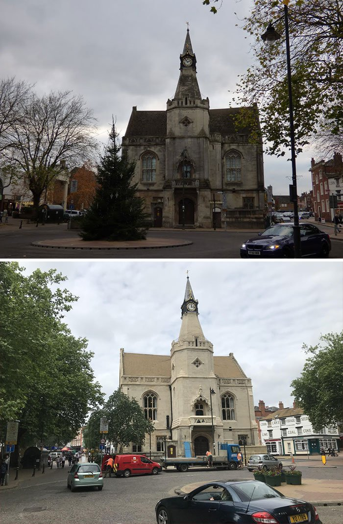 My Hometown Recently Power Washed The Town Hall