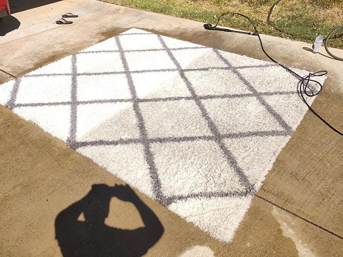 Wife Wanted Me To Buy A New Rug For The Baby To Learn To Crawl On. I Bought A Power Washer Instead