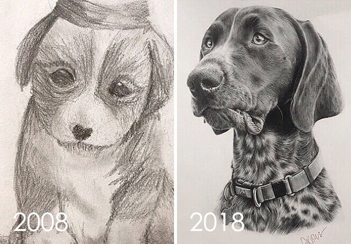Found This Drawing I Did In 2008 When I Was 11 Of The Puppy We Adopted Who's Now An Old Man