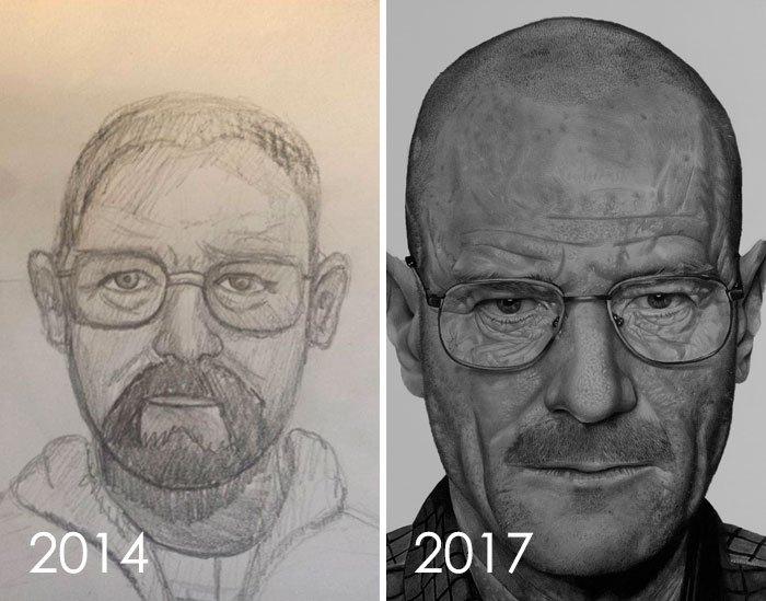 My Drawing Improvement 2014 - 2017