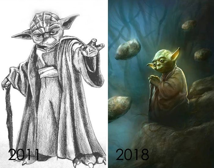 Sometimes I Think That I Do Not Advance Or Improve, And Then I Find My Drawings From Years Ago