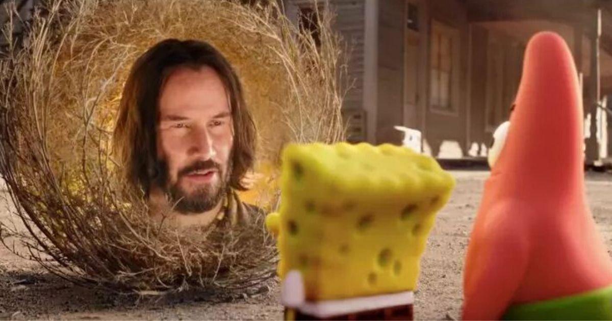4 64.jpg?resize=412,232 - Keanu Reeves Is Portraying A Wise Tumbleweed In The New SpongeBob Movie Trailer