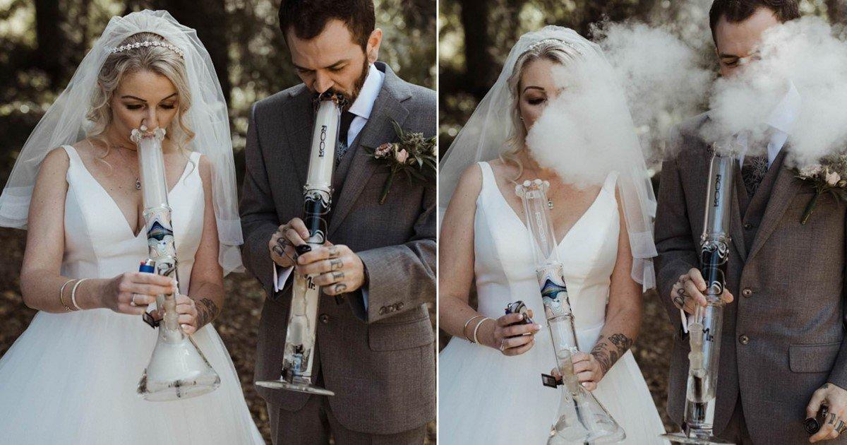 a 49.jpg?resize=1200,630 - Pour leur mariage, ce couple s'est uni en s'échangeant des bangs à cannabis