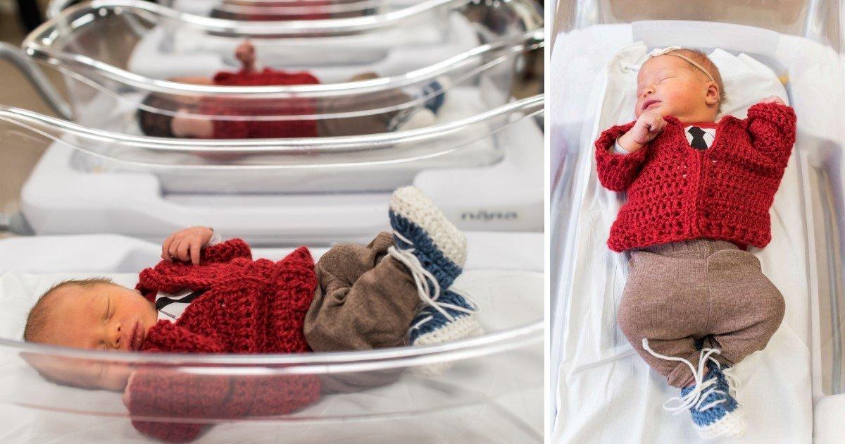 A Hospital Dressed Newborns Like Fred Rogers To Honor Him Small Joys