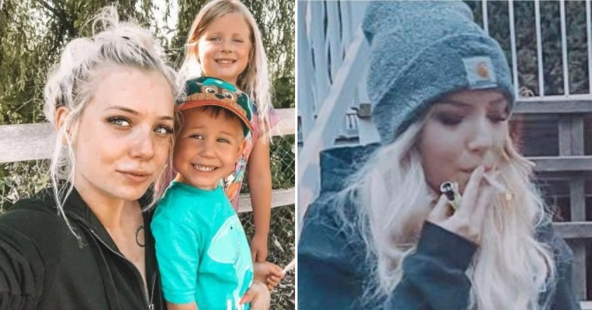 caitlin5.png?resize=412,232 - 23-Year-Old Mother Slammed Online After Saying Smoking Weed Daily Makes Her A 'Better Mom'