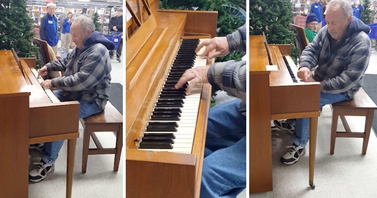 d12.jpg?resize=412,232 - Un homme âgé fait une performance incroyable en jouant du piano dans un supermarché