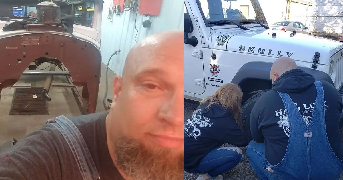 disabled veteran living his dream of helping others by fixing their vehicles for free.jpg?resize=412,232 - This Veteran Is Living His Dream Of Helping Others By Fixing Their Vehicles For Free