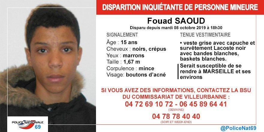 dispartion.jpg?resize=1200,630 - Disparition: Fouad Saoud, 15 ans n'a plus donné signe de vie depuis le 8 octobre