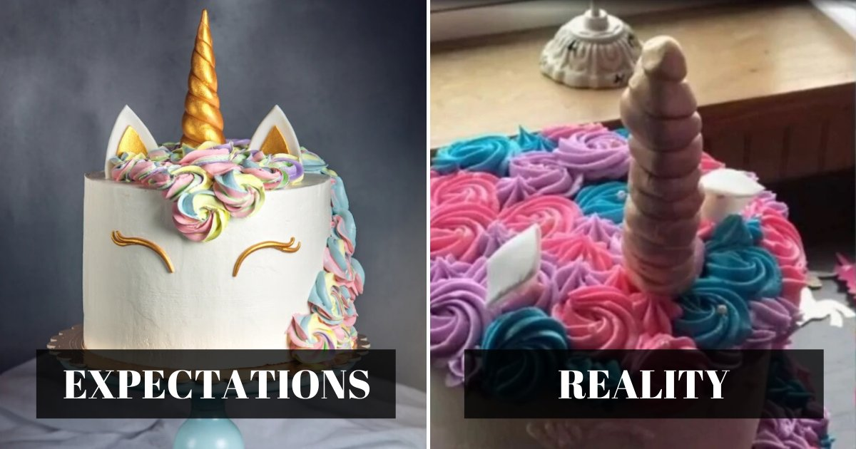 expectations 1.png?resize=1200,630 - Mother Slammed Bakery For Charging Her $370 For 'Embarrassing' Unicorn Cake