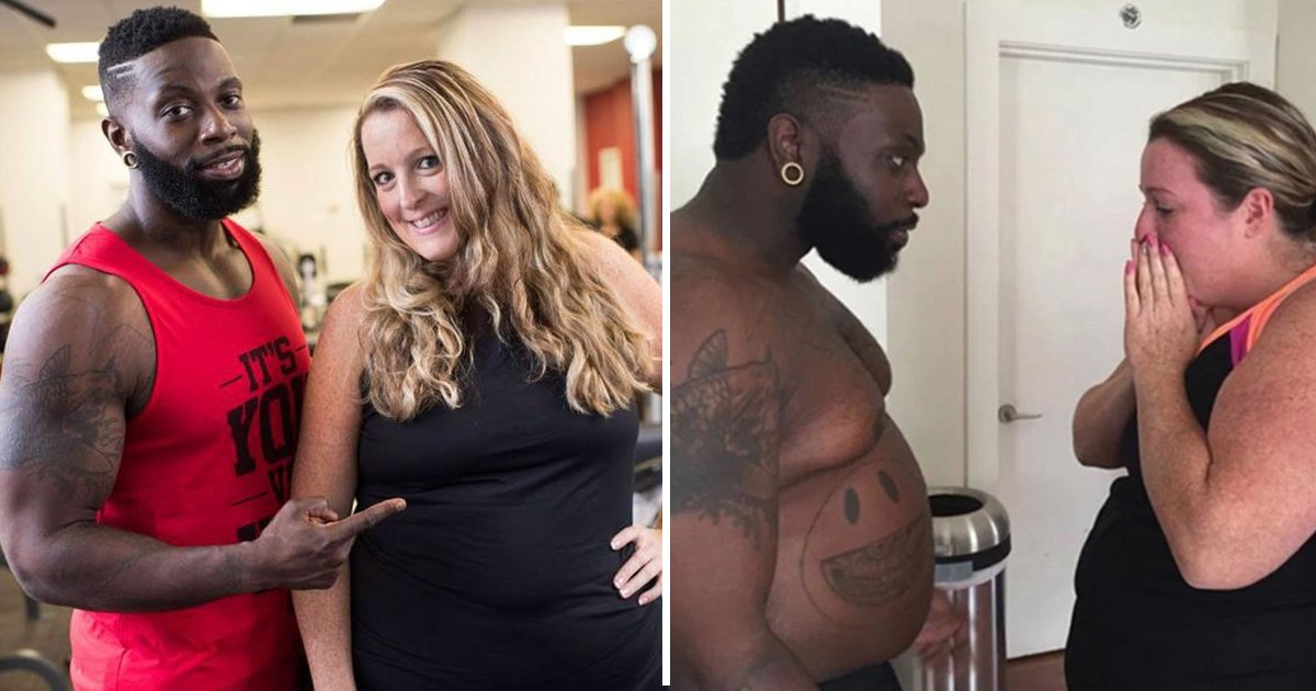 ffff.jpg?resize=412,232 - A Trainer Gained 70 Lb For His Client So That He Can Motivate Her To Lose Weight