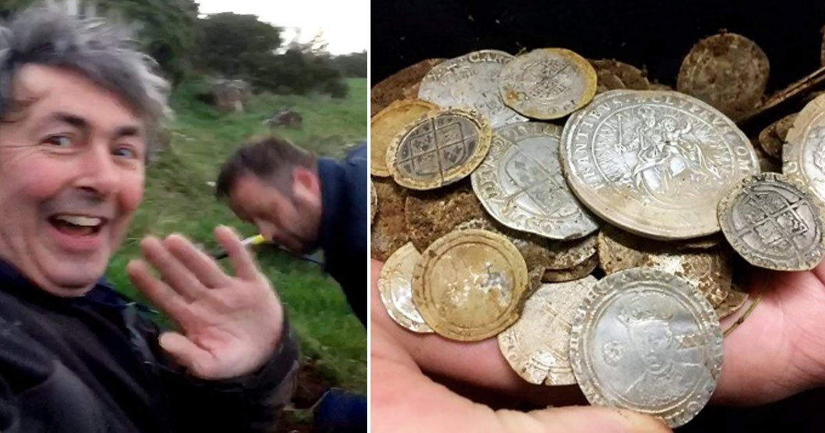 frinends find rare coins.jpg?resize=1200,630 - Friends - Who Were Looking For A Friend's Lost Wedding Ring - Found 84 Rare Gold Coins Worth £100,000