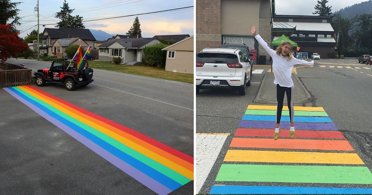hahadf.jpg?resize=412,232 - Citizens In Canada Painted 16 Crosswalks After The City Council Refused To Endorse A Rainbow Crosswalk
