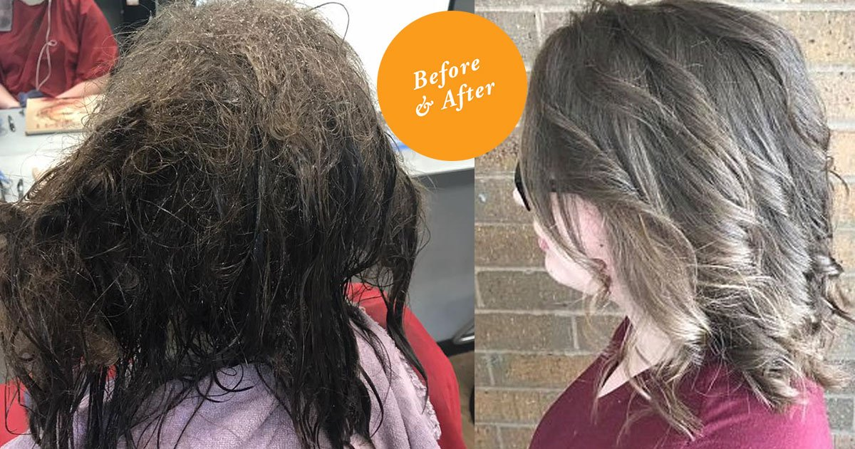hairdresser spent 13 hours giving makeover to depressed teen who came for a haircut.jpg?resize=412,232 - Hairdresser Spent 13 Hours Giving A Makeover To A Teen With Extremely Tangled Hair