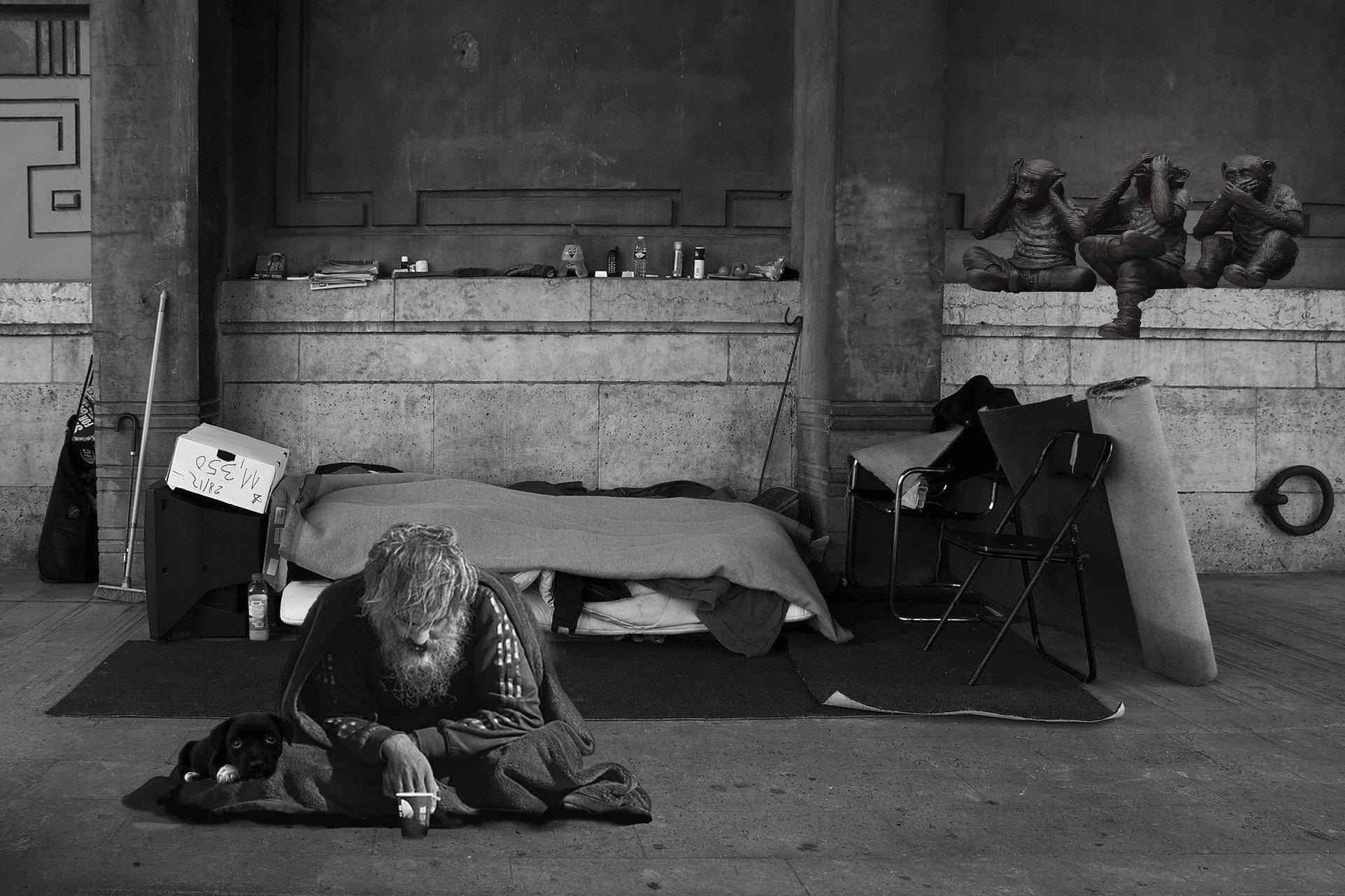homeless man 2653445 1920.jpg?resize=300,169 - À Paris, la population de sans-abri du métro se compose de plus en plus de travailleurs pauvres
