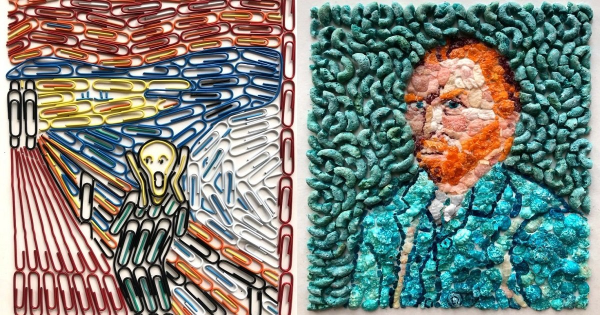 r4 1.jpg?resize=412,232 - Young Artist Reproduced Classic Masterpieces Using Everyday Objects Such As Paper Clips And Tic Tacs