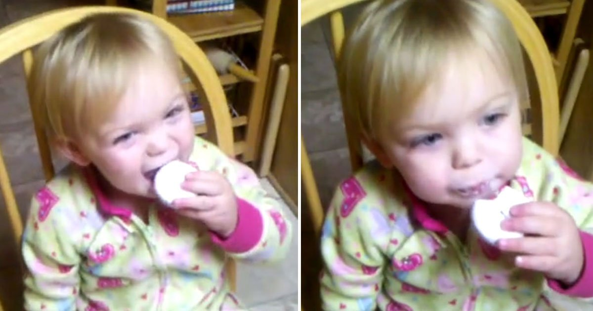 reaction toddler donut.jpg?resize=300,169 - Reaction Of A Toddler After Taking First Bite Of A Donut