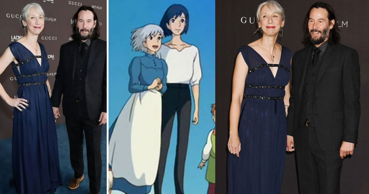 someone compared keanu reeves and his alleged girlfriend to howls moving castle characters.jpg?resize=412,232 - People Found Resemblance Between Keanu Reeves And His Girlfriend And Characters From Howl's Moving Castle
