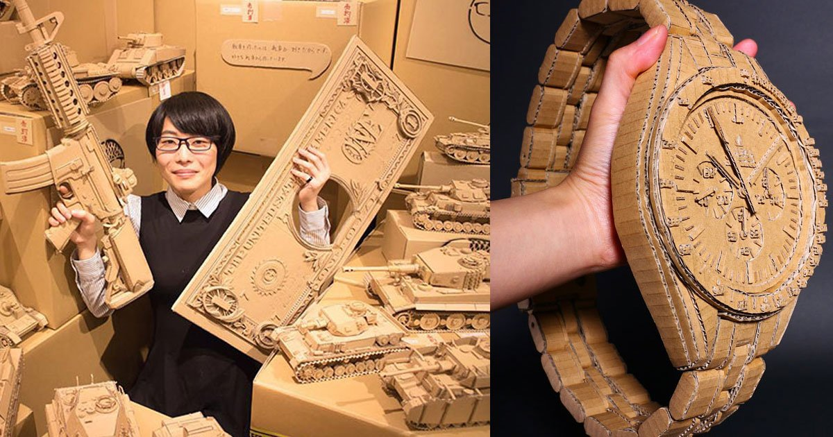 this woman turns old cardboard boxes into awesome pieces of art.jpg?resize=412,232 - This Woman Turns Old Cardboard Boxes Into Awesome Pieces Of Art