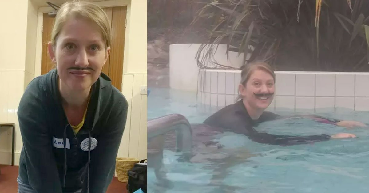 this woman will sport fake moustache for 30 days to raise money for testicular and prostate cancer.jpg?resize=412,232 - This Woman Took On Movember Challenge By Wearing Fake Mustache For 30 Days
