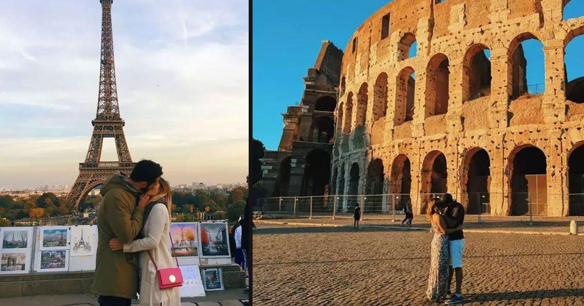 untitled 1 30.jpg?resize=412,232 - Une femme a demandé à des étrangers de prendre des photos romantiques avec elle devant des lieux emblématiques
