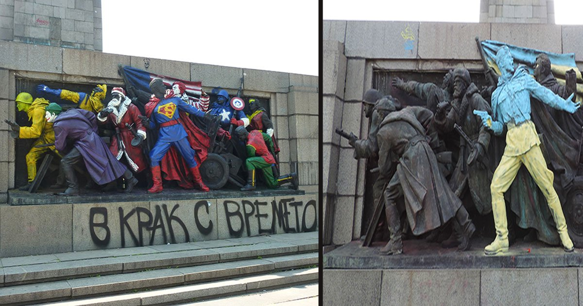 untitled 1 35.jpg?resize=412,232 - People In Bulgaria Keep Turning Monument Into Different Subjects Including Superman And Santa Claus