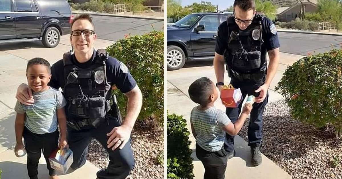 untitled 1 5.jpg?resize=412,232 - A 5-Year-Old Boy Called 911 To Order A Happy Meal And An Officer Delivered The 'Emergency'