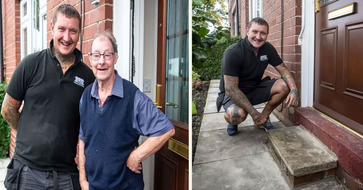 untitled 1 53.jpg?resize=412,232 - Workman Built A Step For A Pensioner In Exchange For Just A Cup Of Tea And A Chat