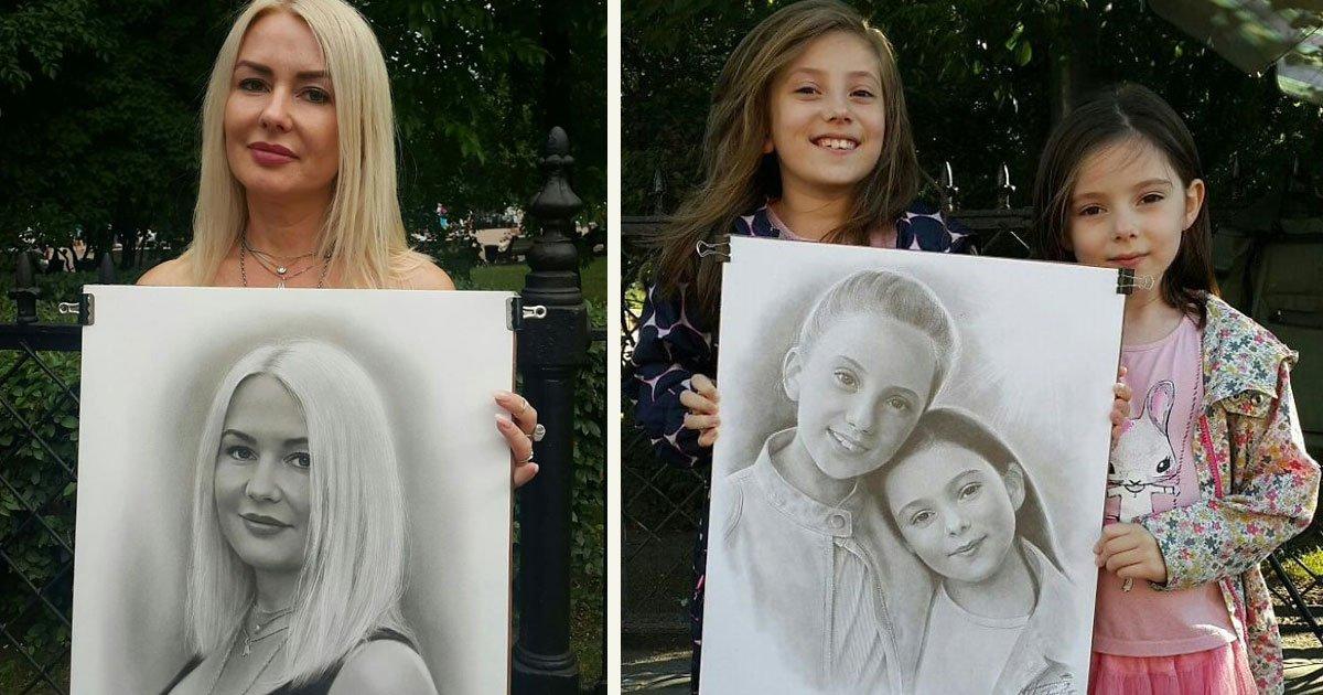 untitled 1 80.jpg?resize=412,232 - Un artiste de rue dessine des portraits des plus réalistes en une heure seulement