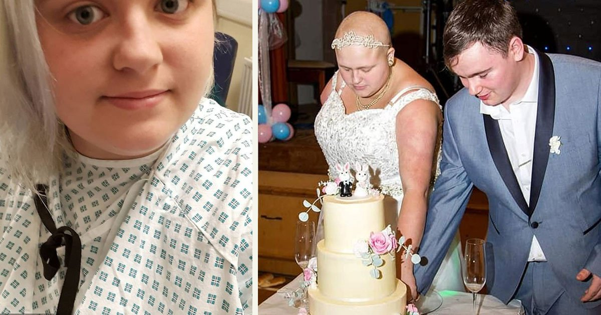 untitled 22 1.jpg?resize=412,232 - 21-Year-Old Bride With Rare Terminal Cancer Got Married To The Man Of Her Dreams
