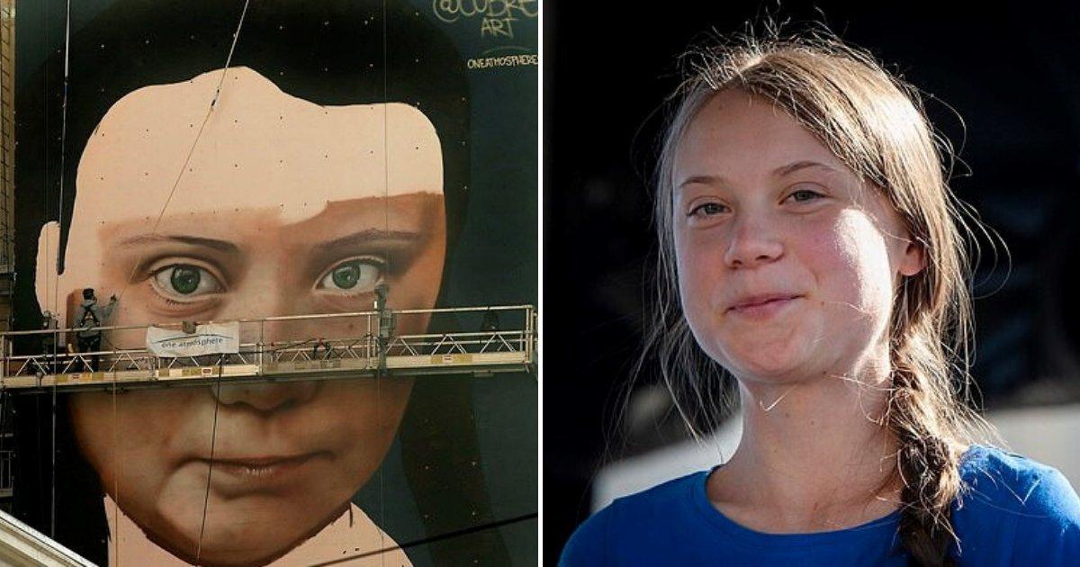 untitled design 2019 11 10t140159 432.png?resize=1200,630 - Giant Mural Of Eco-Warrior Greta Thunberg Appeared In Downtown San Francisco