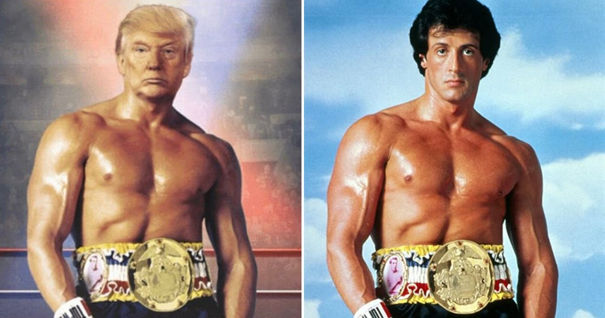 untitled design 2019 11 28t231425 451.png?resize=412,232 - Donald Trump Photoshopped His Head On Rocky Balboa's Body And Tweeted The Masterpiece