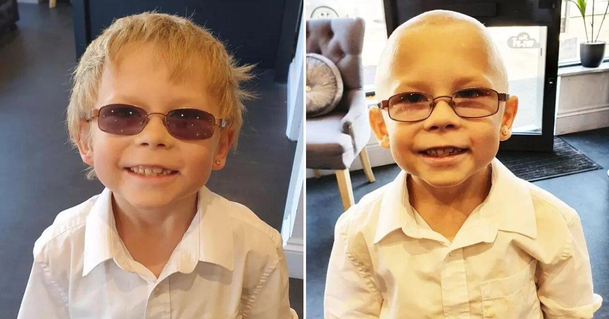 untitled design 39.png?resize=412,232 - Un jeune garçon s'est rasé la tête pour soutenir son camarade de classe atteint d'un cancer