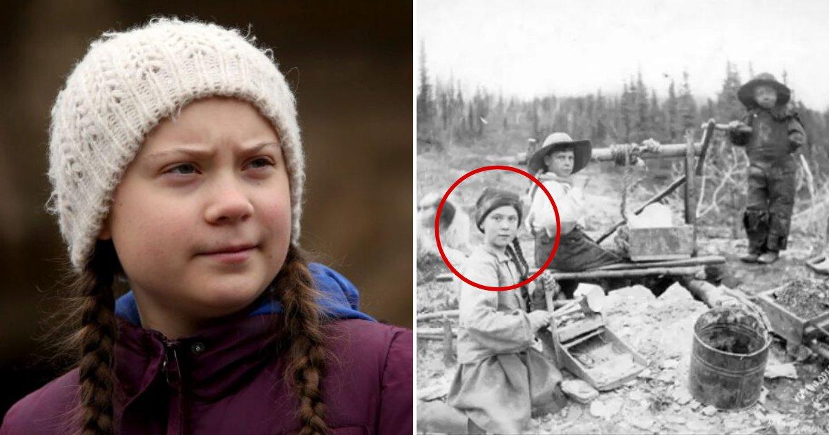 untitled design 56 1.png?resize=1200,630 - D'après les théoriciens du complot, Greta Thunberg serait une voyageuse temporelle du 19e siècle