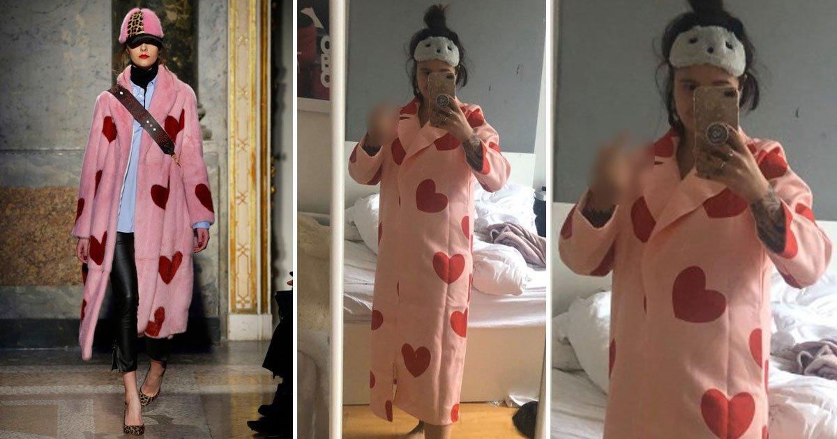 woman coat expectation vs reality.jpg?resize=300,169 - Attentes vs réalité: une femme a commandé un manteau de fourrure rose en ligne et l'a regretté plus tard