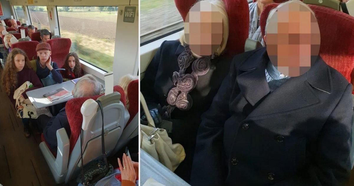 1 156.jpg?resize=412,232 - Una Madre Embarazada Criticó A Una Pareja De Ancianos Por No Moverse De Los Asientos Que Reservó Para Sus Hijos