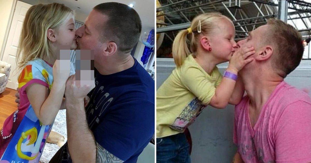 1 207.jpg?resize=1200,630 - Un Padre Se Volvió Viral Al Compartir Una Foto En La Que Besaba A Su Hija En La Boca