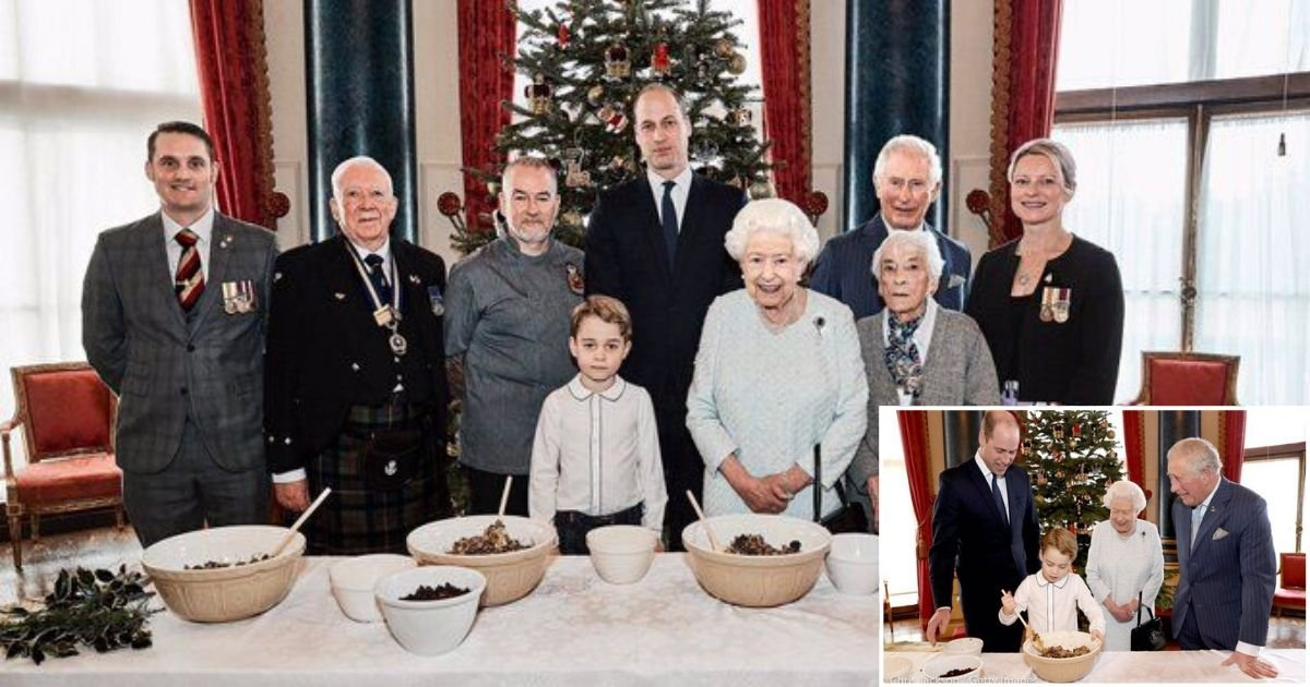 1 281.jpg?resize=1200,630 - 4 Generations of Royals Making the Christmas Pudding Together is Melting The Internet