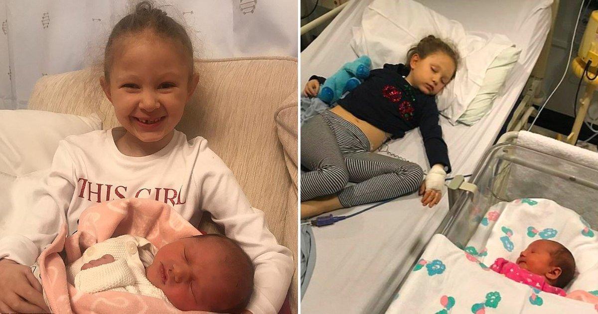 1 34.jpg?resize=1200,630 - Niña De 6 Años Conoció A Su Hermanita Recién Nacido Solo Cinco Días Antes De Fallecer